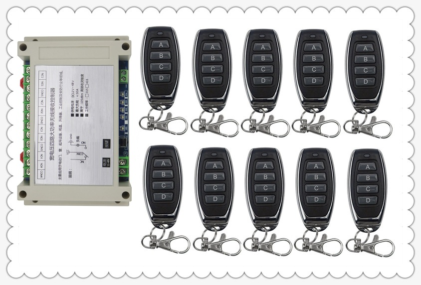 12V 24V 36V 48V 4CH 30A RF Wireless Remote Control Relay Switch Security System Garage Doors Gate Electric Doors 10 * remote 40km h 4 wheel electric skateboard dual motor remote wireless bluetooth control scooter hoverboard longboard