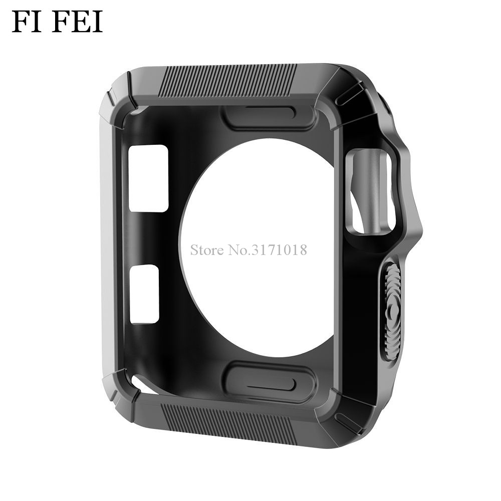 FI FEI Watchbands Accessories Case For Apple Watch 38mm 42mm Series 1 2 3 Soft Silicon Protective Replacement Cover Case 6 color series 1 2 3 soft silicone case for apple watch cover 38mm 42mm fashion plated tpu protective cover for iwatch