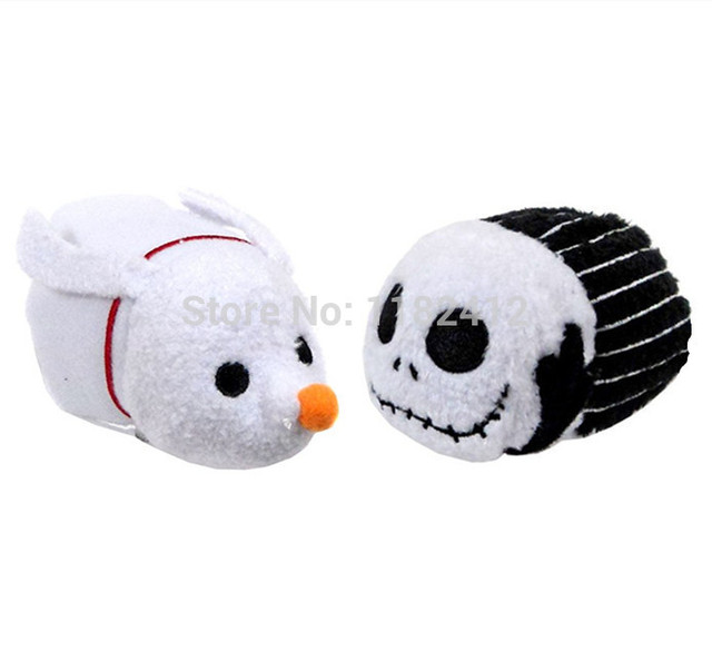 tsum tsum mini plush toys nightmare before christmas jack skellington zero dog set cute smartphone screen