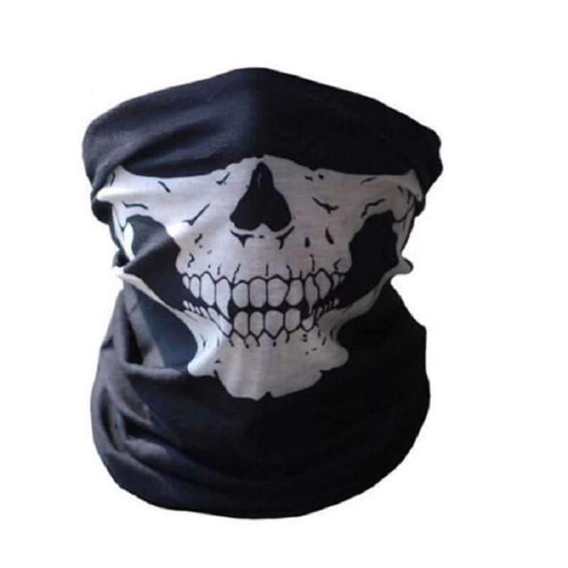 Outdoor Motorcycle Training Mask Cool Skull Bike Scarf Mask Bandana Motor Bike Sport Scarf Neck Warmer Winter Halloween
