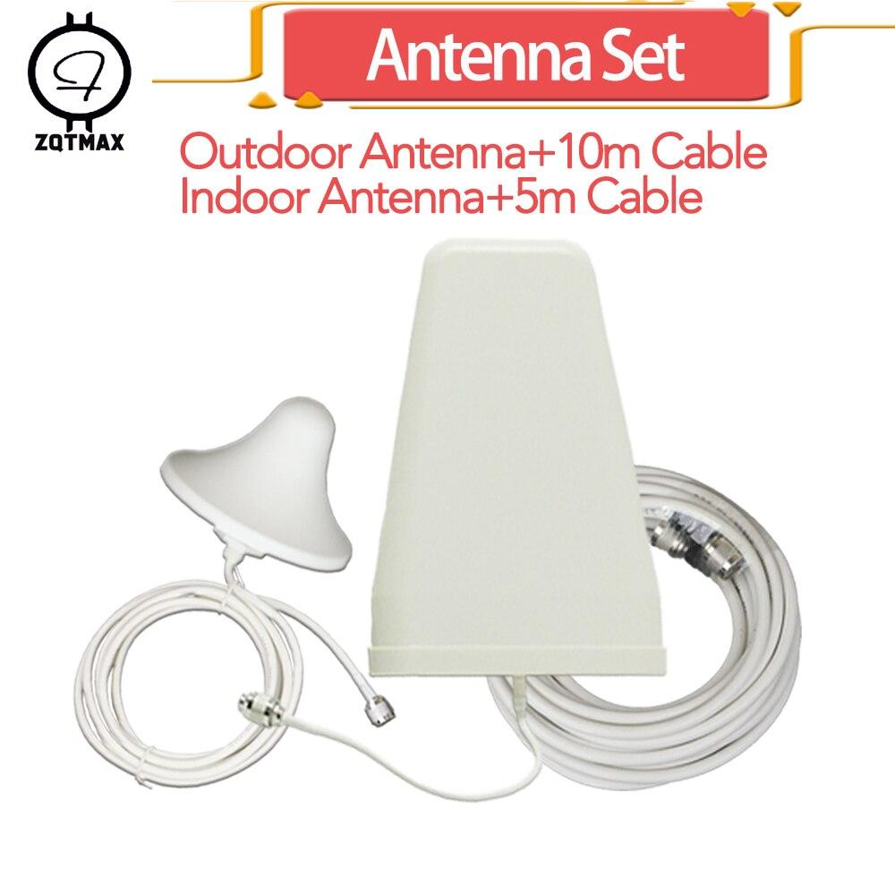 Antenne période logarithmique ZQTMAX + antenne omni pour amplificateur de Signal répéteur cellulaire 2g 3g 4g lte Booster et câble Coaxial