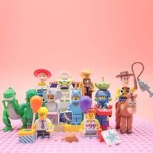 Cartoon Figures Buzz Lightyear Woody City Series Legoingly Friends Bricks model playmobil Building Blocks Toys for children gift