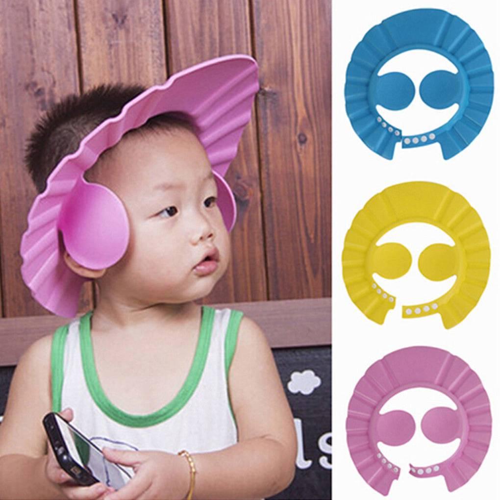 1pc Children Shampoo Bath Shower Cap Adjustable Baby Shower Hat Baby Shampoo Cap Baby Care Bath Protection for Kid Shower