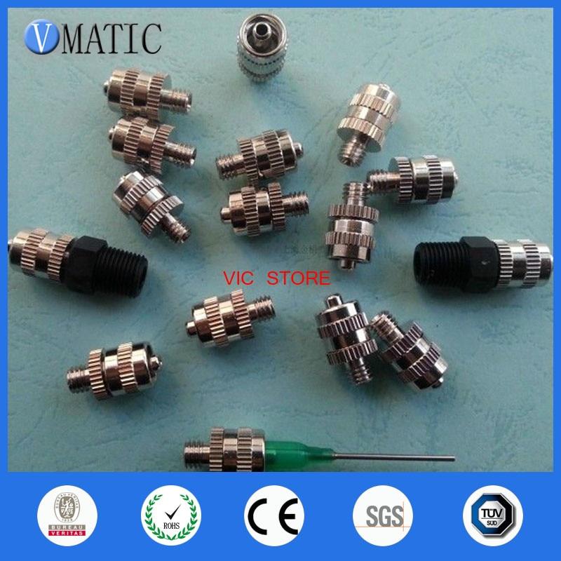 High Quality Metal needle adapter glue dispensing valve M6M8 screw needle 10pcs/set free shipping