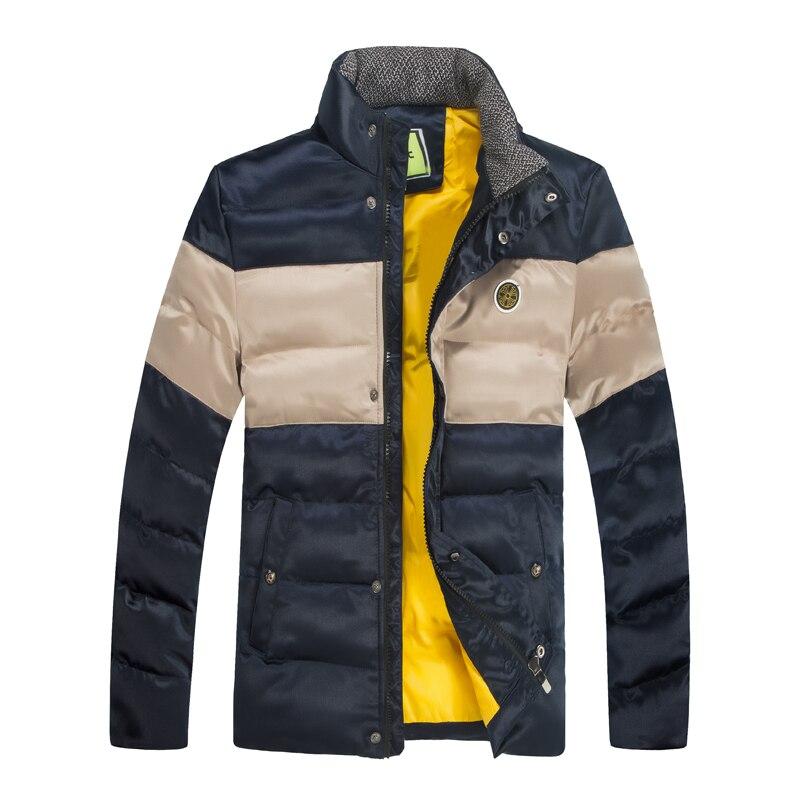 Brand Casual font b Men s b font Winter Parkas Slim Short section winter man down