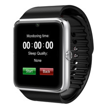 GT80นาฬิกาบลูทูธสมาร์ทที่มีบลูทูธกล้องนาฬิกาข้อมือสนับสนุนซิมการ์ดสำหรับแอปเปิ้ลiPhoneและซัมซุงS Mart W Atch