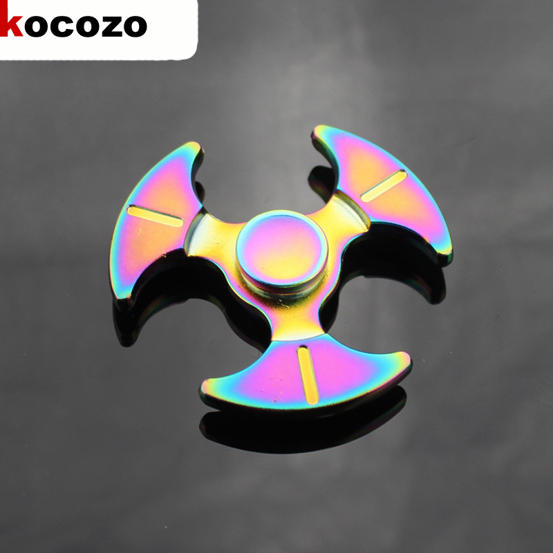 Tri spinner Fidget Spinner Steel Hand Spinner Educational Toys Spinner Hand Anti Stress Toy 2017 High
