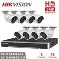 Hikvision CCTV Kamera Kits Video Überwachung 6MP IP Kamera Sicherheit Kamera POE H.265 Hause Nacht Version System Remote View-in Überwachungskameras aus Sicherheit und Schutz bei