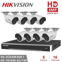 Hikvision CCTV Camera Kits Video Surveillance 6MP IP Camera Security Camera POE H.265 Home Night Version System Remote View