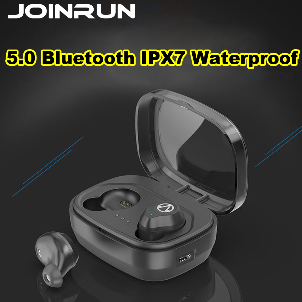 JOINRUN Bluetooth Earphone TWS 5.0 Touch Control Stereo Music In-ear Type IPX7 Waterproof Wireless Earbuds with Charging box tws 5 0 bluetooth earphone touch control stereo music in ear type ipx6 waterproof wireless earbuds with charging box yz209