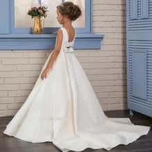 Fancy Pearls Flower Girl Dresses 2020 Vestidos daminha A Line Kids Evening Pageant Gowns Beads First Communion Dresses For Girls