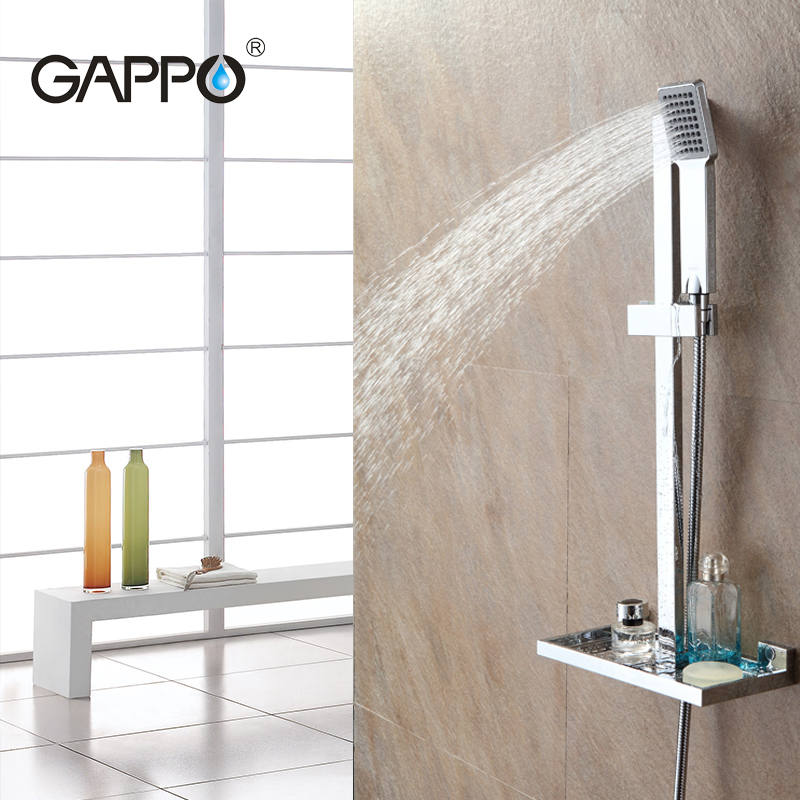 цены GAPPO bathroom Shower Slide Bar shower faucet mixer taps sliding shower bar Soap Dish holder bath shower ABS Chrome GA8010