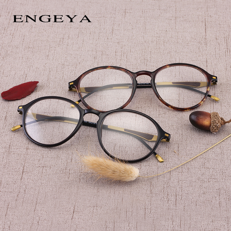 fde82c503c ENGEYA 2017 Round TR90 Eyewear Frames Women Men Computer Myopia Super Light Prescription  Optical Glasses Frame High Quality 2100