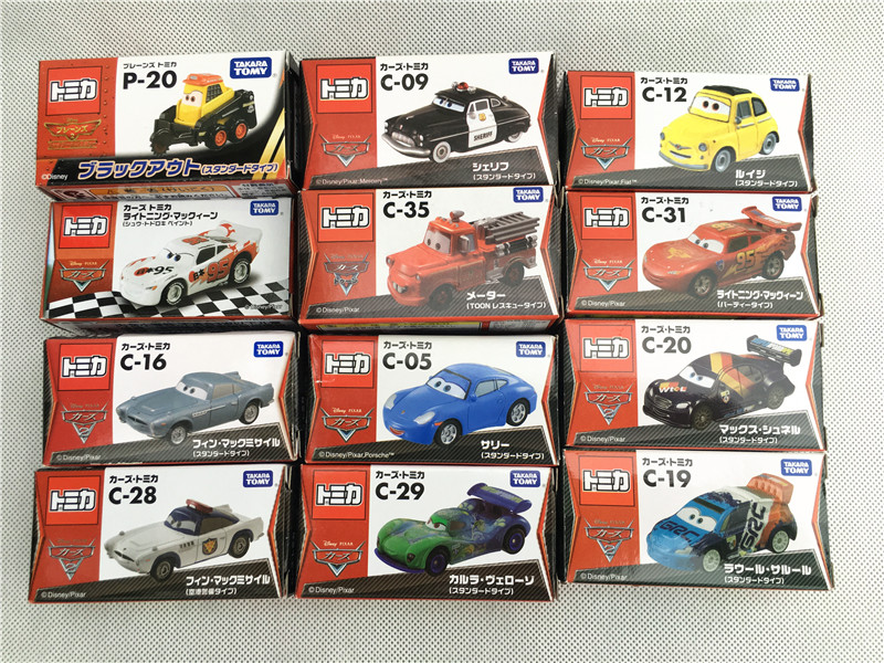 Takara Tomy Tomica Disney Pixar Cars Sheriff/King/Flo/Sally/Chick Hicks/Mater/Doc Hudson Metal Diecast Toy Car New