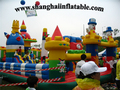 2016Giant climbing inflatable fun city for children
