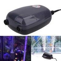 ASLT New Hot Sale 2 Air Bubble Disk Stone Aerator Aquarium Fish Tank Pond Pump Hydroponic