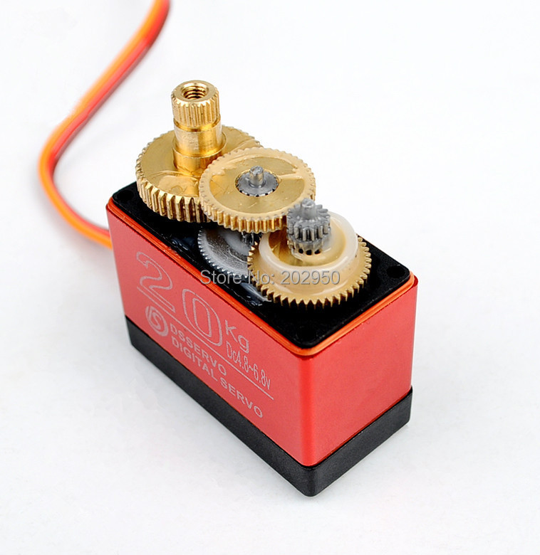 Image 4 - DS3120 20KG High Torque Servo Metal Gear Steering Servo For HSP 1/8 1/10 RC Car 94188 94111 94123 94762 Baja 180 270 Degree-in Parts & Accessories from Toys & Hobbies