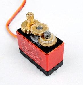 Image 4 - Servomotor de alta torsión para coche de control remoto, DS3120, 20KG, Servo de dirección de engranaje de Metal para coche de control remoto HSP 1/8, 1/10, 94188, 94111, 94123, Baja, 94762, 180, 270 grados