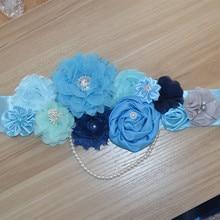 Buy Flower Belt, Handmade Flower Dress Belt, Wedding Dress Belt Customized, Girl Dress Evening Dress Belt directly from merchant!