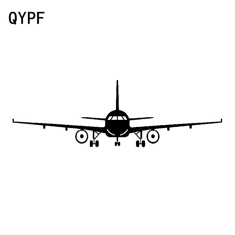 QYPF 17.7cm*5.6cm Simple Small Airplane Special Creative Design Graphics Vinyl Car Sticker Unmatched Decal Pattern C18-0779