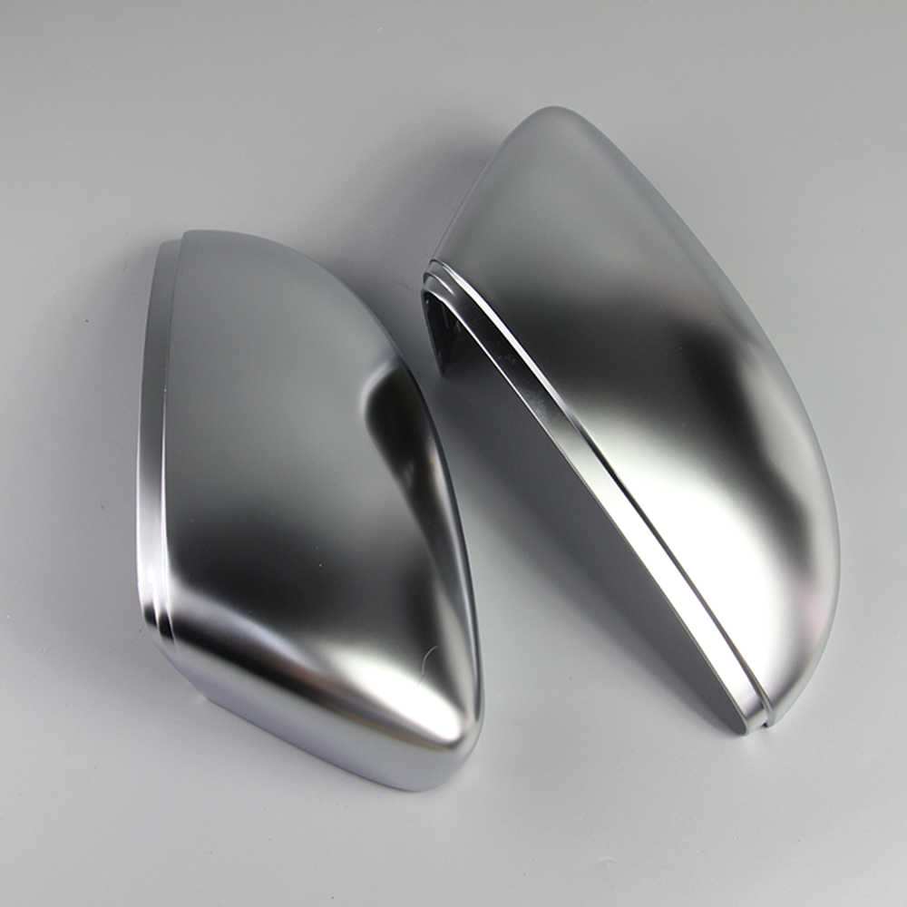 1 Pair of Matte Chrome Rearview Mirror Cover Cap for VW Passat B7 CC Jetta Scirocco Beetle