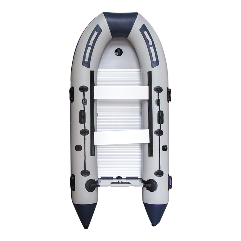 New Inflatable Boat With Aluminum Alloy Bottom Rubber Boat Thicken 2/4/6/8 Person Kayak Fishing Boat Hovercraft Assault Boat