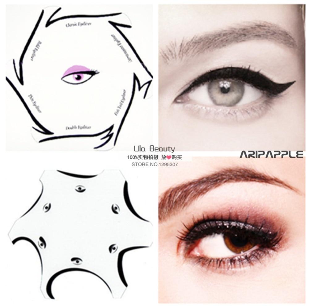 buy 2packs multifunction eye stencil 6 in 1 eyeshadow and eyeliner stencils for. Black Bedroom Furniture Sets. Home Design Ideas
