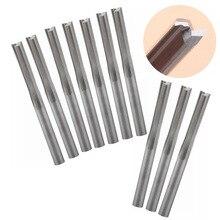 Fresa de extremo de ranura recta de dos canales, 3.175mm, 22mm, CNC, herramientas de corte de dos dimensiones, broca de enrutador, 10 piezas