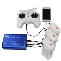 LeadingStar Charger RC Quadcopter 4k Camera Spare Parts 3 in 1 Battery and Transmitter Charger for Xiaomi Drone ZK30
