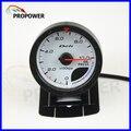 "2.5 ""60 MM DF Avanço CR Medidor Medidor de Pressão de Óleo Medidor de Cara Branca Com Sensor/AUTO MEDIDOR"
