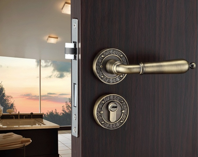 Premintehdw Rural Style Mortise Interior Door Lock Set Reversal