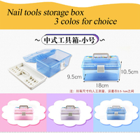 Nail Tools Storage Box Polish Gel Case Box Holder Plastic Professional Nail Art Supplies Holder Manicure