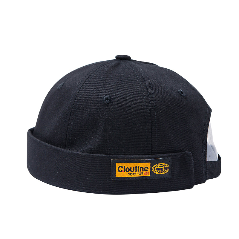 Men's Autumn Embroidery Cotton Brimless   Skullies   Cap vintage Urban Unique Street Docker Hats Multipurpose Miki   Beanie   cap
