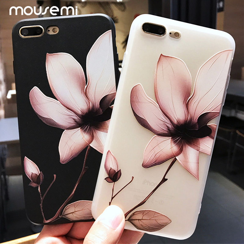 Flower Phone Case For iPhone 6 7 Case Girl 2