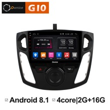 цена на Android 8.1 Quad 4Core 2GB RAM+16GB ROM Car DVD Player For Ford Focus 2012 2013 2014 2015 GPS Navigation Radio Stereo TPMS DAB