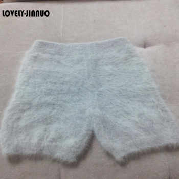 fashion winter mink cashmere knitted trousers short pants free shipping JN296