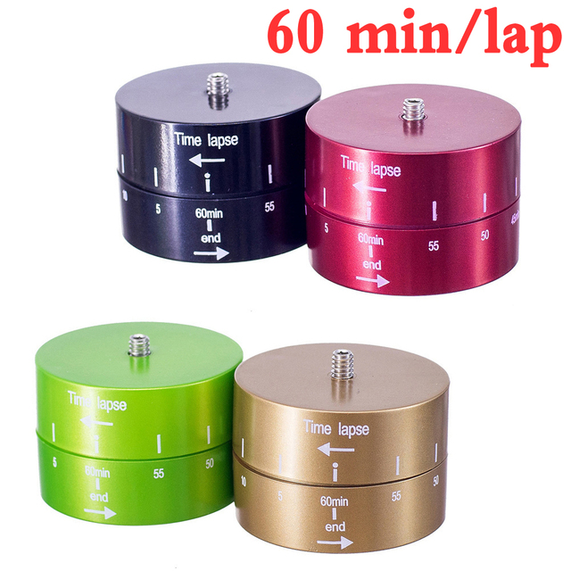 Universal Time Lapse Shooting 60min Timer Rotate for Gopro 6 5 4 3+ Xiaoyi Action Cameras Dslr Camera Tripod Monopod Slider
