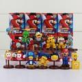 13pcs/lot Super Mario Bros Wii Collection Toy Figures Penguin Mushroom Star Bowser Princess