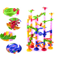MUQGEW 2017 New Hot Sell 105PCS DIY Construction Marble Race Run Maze Balls Track Building Blocks