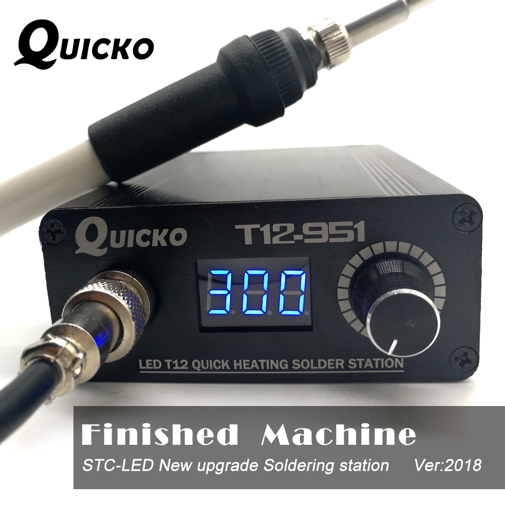 QUICKO T12 STC-LED Soldering Station Electronic Soldering Iron 2019 New Version T12-951 LED Digital Welding Tool Big Power 108W