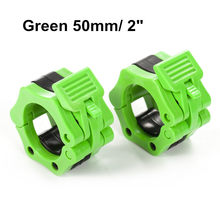 "1 Para 2 ""Olympic Spinlock Kragen Barbell Kragen Schloss Dumbell Clips Clamp gewichtheben Bar Gym Fitness Bodybuilding Grün(China)"