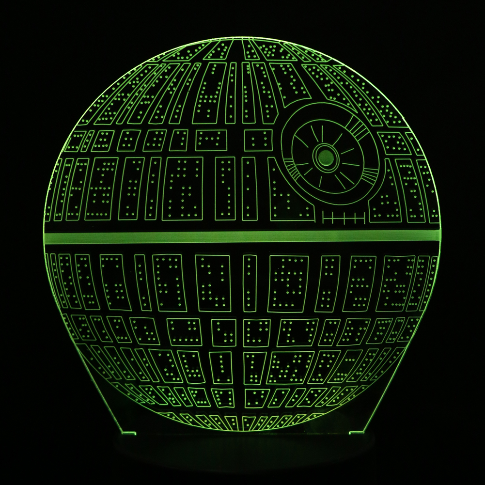 Creative 3D Novelty Light Star Wars Death Star 7 Colors Changing LED Lamp Home Desk Decoration Light Kids Gift Toy FULI ynynoo star wars bb8 droid 3d bulbing light toys 2016 new 7 color changing visual illusion led lamp yoda millennium falcon toy