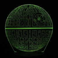 Creative 3D Novelty Light Star Wars Death Star 7 Colors Changing LED Lamp Home Desk Decoration
