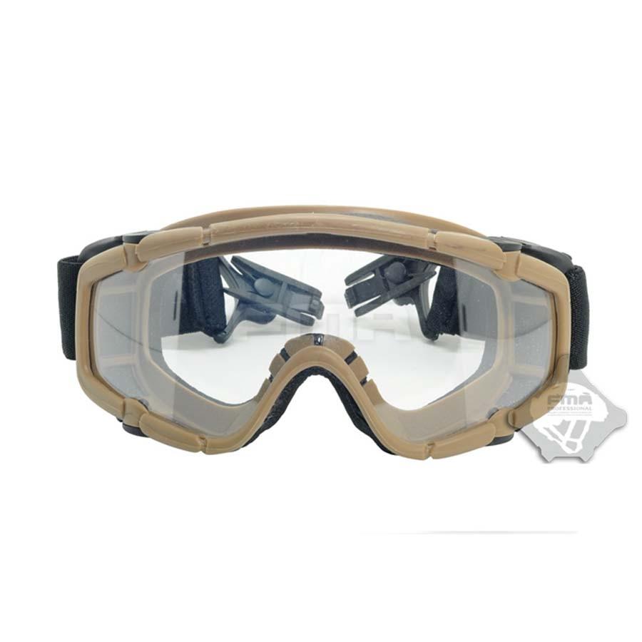 Dark Earth Skiing Sports & Paintball Airsoft Glasses anti fog Ballistic Goggles For Helmet