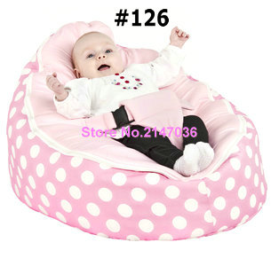 Pink polka New Designed Baby Bed bean bag, kids sofa beanbag beds – free shipping