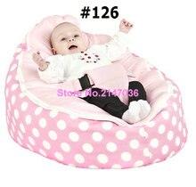 Pink polka New Designed Baby Bed bean bag, kids sofa beanbag beds – free shipping