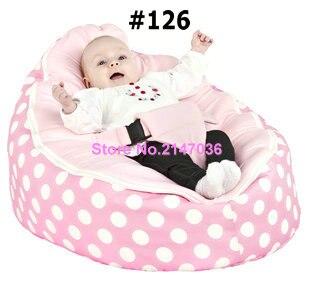 Rosa polka Nuovo Progettato Baby Bed bean bag, bambini letti divano beanbag-trasporto liberoRosa polka Nuovo Progettato Baby Bed bean bag, bambini letti divano beanbag-trasporto libero