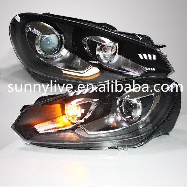 2009 2012 Year For Vw Golf 6 Led Angel Eyes Head Lights-4663