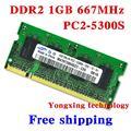 Пожизненная гарантия для samsung DDR2 1 ГБ 2 ГБ 667 мГц PC2-5300S оригинальной аутентичной DDR 2 1 г портативный ноутбук памяти RAM 200PIN SODIMM