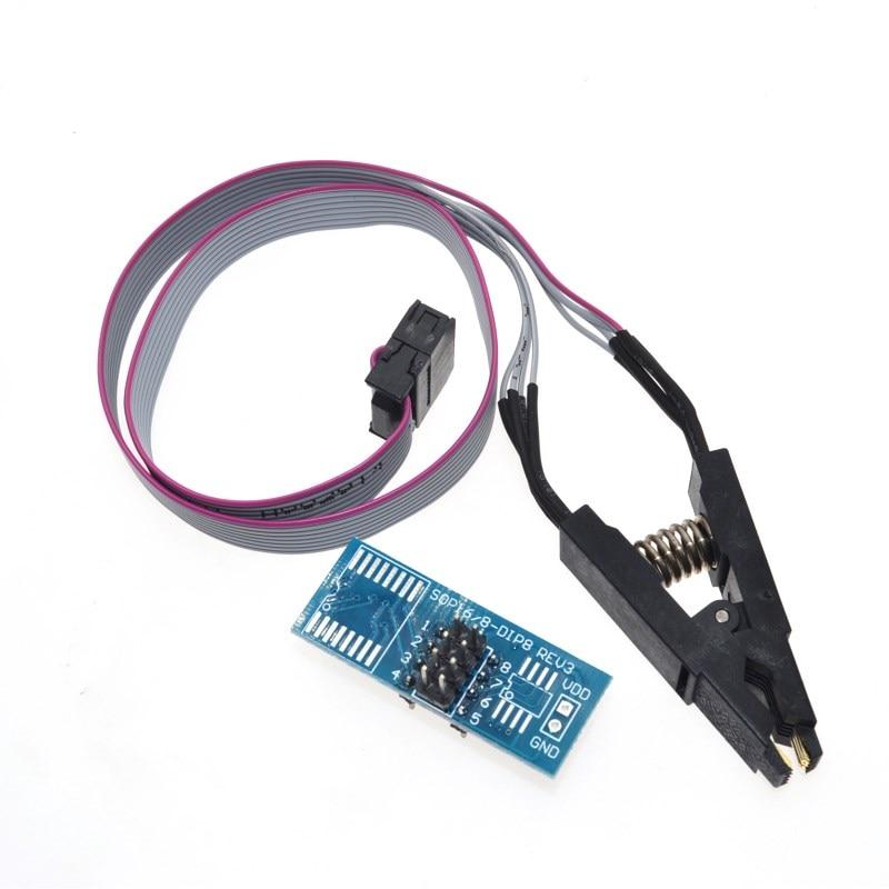 2018 SOIC8 SOP8 флэш-памяти зажим для проверки ИС розетка адаптер BIOS/24/25/93 SOIC8 SOP8 зажим испытания на ключевой программист TL866CS TL866A